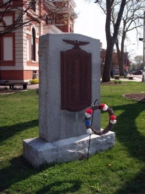 Full View - - W. W. I War Memorial - Livingston County Illinois Marker image. Click for full size.