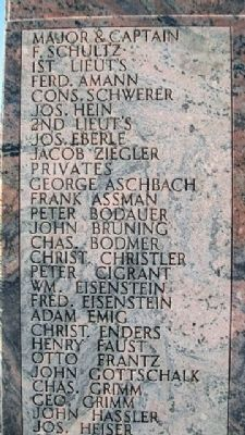 Schultz's Battery Memorial Honor Roll image. Click for full size.