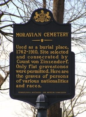 Moravian Cemetery Marker image. Click for full size.