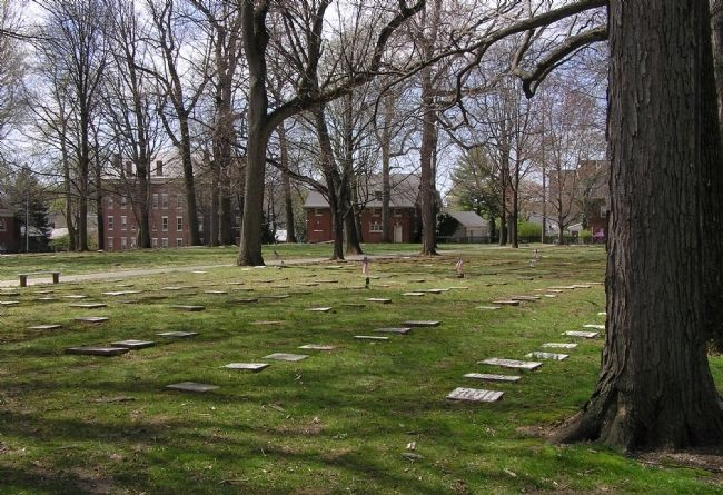 Looking across the Moravian Cemetery (1742) image. Click for full size.