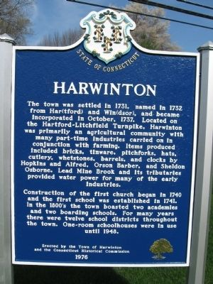Harwinton Marker image. Click for full size.