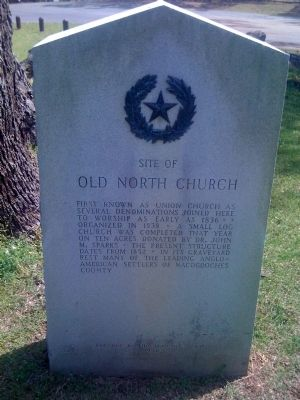 Site of Old North Church Marker image. Click for full size.