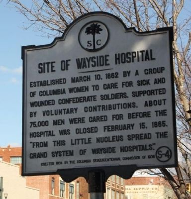 Site of Wayside Hospital Marker image. Click for full size.
