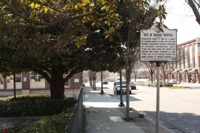 Site of Wayside Hospital Marker seen along Gervais Street (US 1) image. Click for full size.