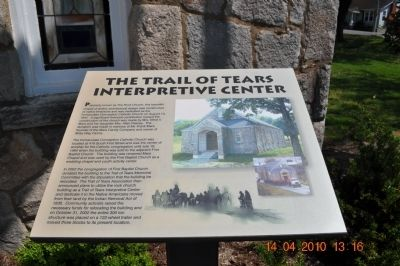 The Trail of Tears Interpretive Center Marker image. Click for full size.