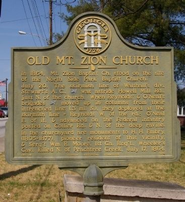 Old Mt. Zion Church Marker image. Click for full size.