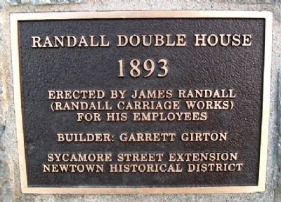 Randall Double House Marker image. Click for full size.