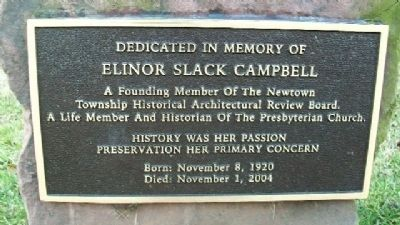 Elinor Slack Campbell Marker image. Click for full size.