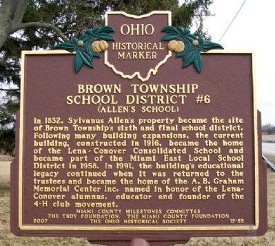 Brown Township School District #6 Marker image. Click for full size.