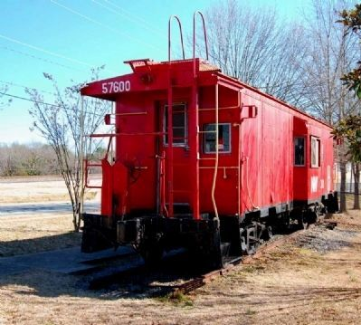Central Caboose -<br>Located East of the Marker<br>Intersection of West Main and Church Streets image. Click for full size.