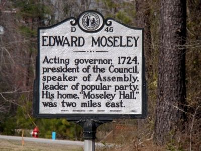 Edward Moseley Marker image. Click for full size.