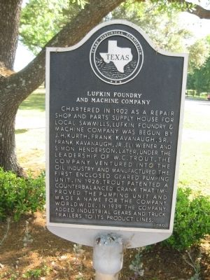 Lufkin Foundry and Machine Company Marker image. Click for full size.