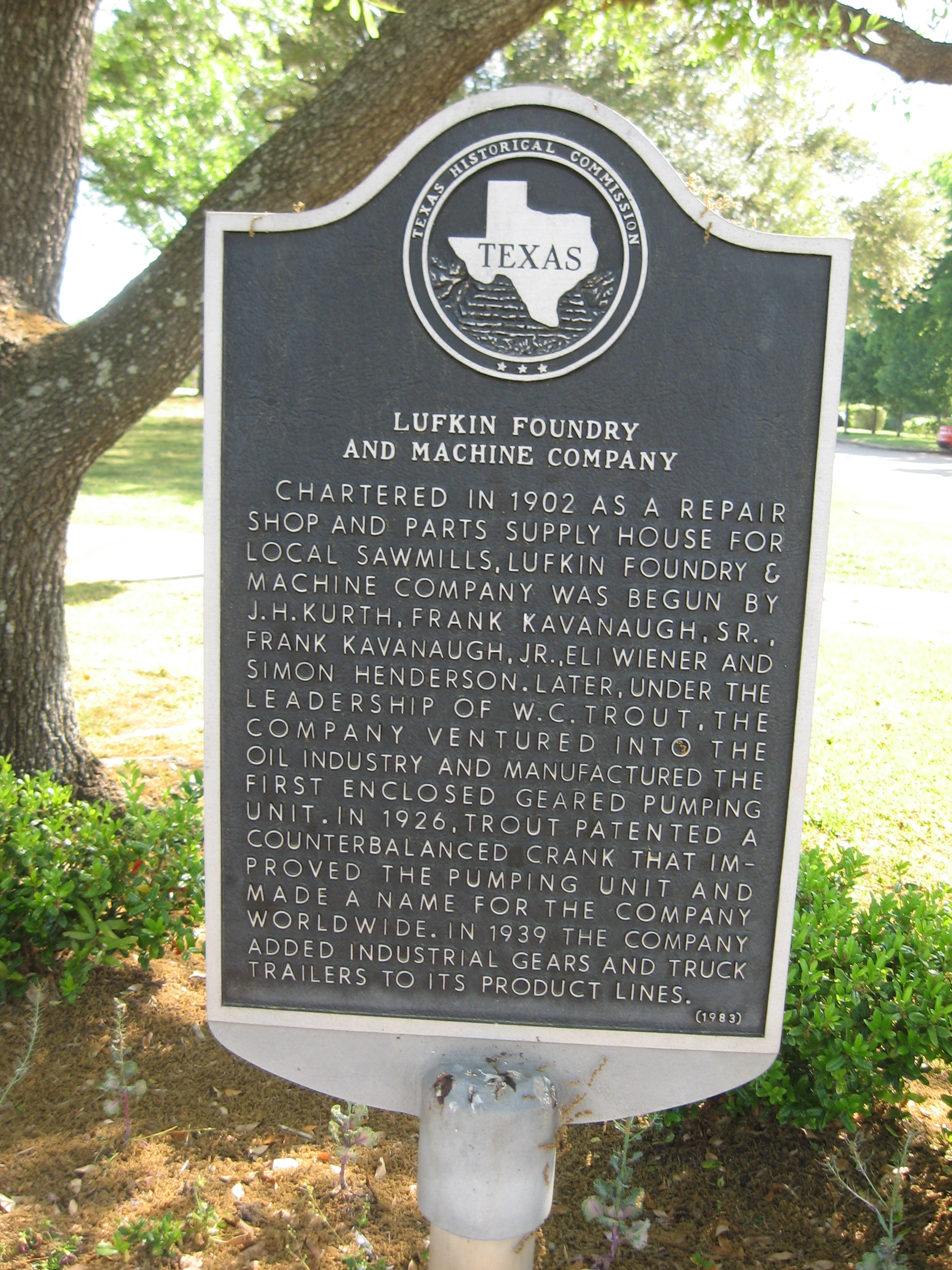 Lufkin Foundry and Machine Company Marker