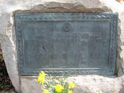 New Hartford Remembers Marker image. Click for full size.