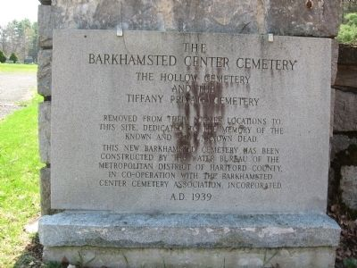 Barkhamsted Center Cemetery Marker image. Click for full size.