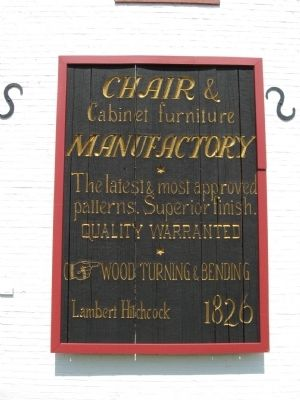 Sign on Factory Building image. Click for full size.