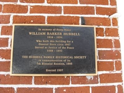 William Barker Hubbell Marker image. Click for full size.