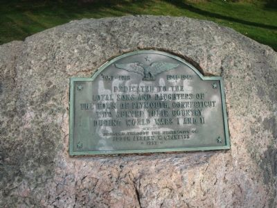 Loyal Sons and Daughters of Plymouth, Connecticut Marker image. Click for full size.