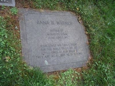 Grave of Anna Warner image. Click for full size.