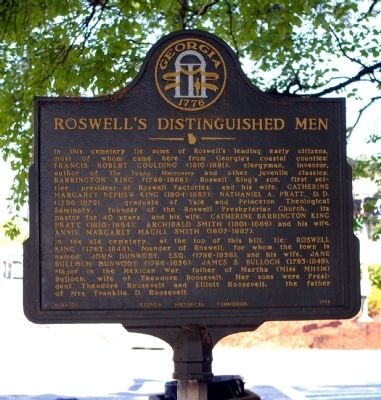 Roswell's Distinguished Men Marker image. Click for full size.