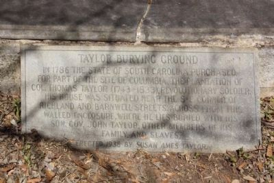 Taylor Burying Ground Marker image. Click for full size.