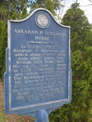 Abraham P. Ackerman House Marker image. Click for full size.