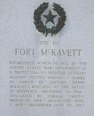 Fort McKavett Marker image. Click for full size.