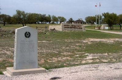 Entrance to Fort McKavett Historical Site image. Click for full size.