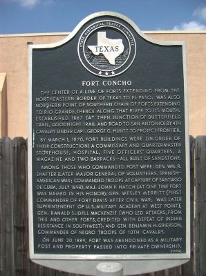 Fort Concho Marker image. Click for full size.