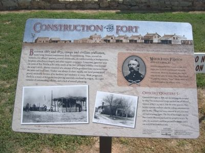 Sign about the building of Fort Concho image. Click for full size.