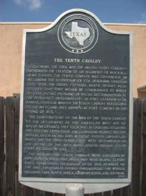 The Tenth Cavalry Marker image. Click for full size.