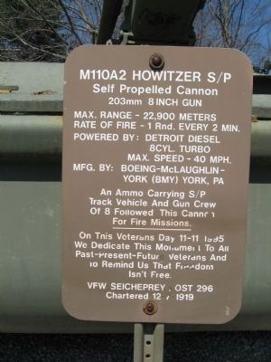 M110A2 Howitzer S/P Marker image. Click for full size.