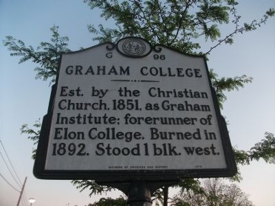 Graham College Marker image. Click for full size.