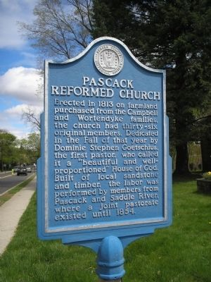 Pascack Reformed Church Marker image. Click for full size.