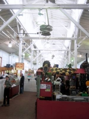 View of the brick building interior, Broad Street Market image. Click for full size.