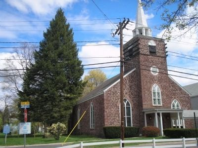Pascack Reformed Church & Marker image. Click for full size.
