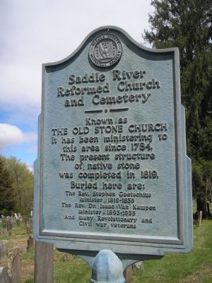 Saddle River Reformed Church and Cemetery Marker image. Click for full size.