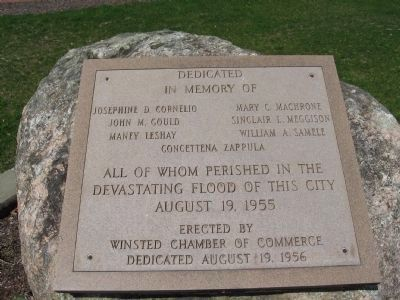 Nearby Marker Dedicated to 1955 Flood Victims image. Click for full size.