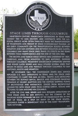 Stage Lines Through Columbus Marker image. Click for full size.