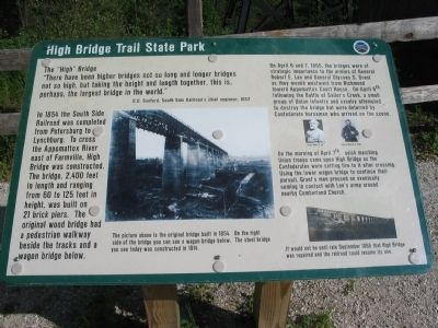 High Bridge Trail State Park Marker image. Click for full size.