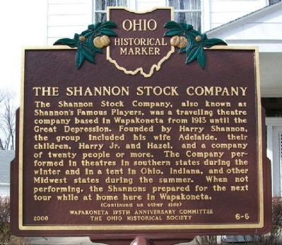 The Shannon Stock Company Marker (Side A) image. Click for full size.
