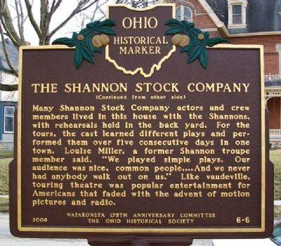 The Shannon Stock Company Marker (Side B) image. Click for full size.