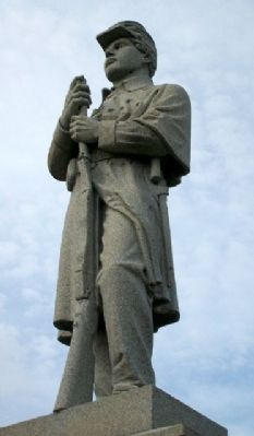 Oglevie Post 64 G.A.R. Civil War Memorial Statue image. Click for full size.