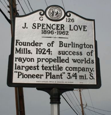 J. Spencer Love Marker image. Click for full size.
