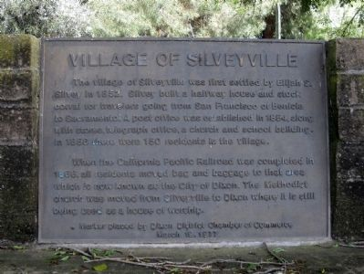 Village of Silveyville Marker image. Click for full size.