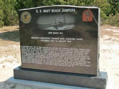 U.S. Navy Beach Jumpers - Amphibious Forces, U.S. Navy Monument Marker image. Click for full size.