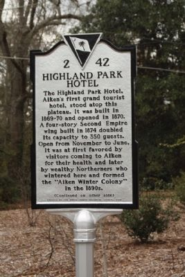 Highland Park Hotel Marker image. Click for full size.