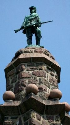 Butler County Civil War Memorial Statue image. Click for full size.
