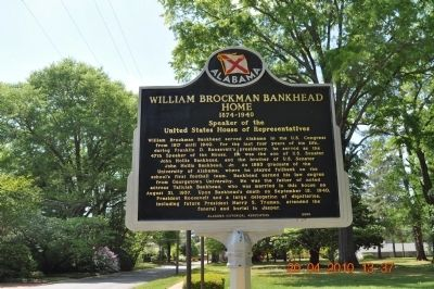 William Brockman Bankhead Home Marker image. Click for full size.