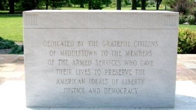 Middletown World War II Memorial image. Click for full size.